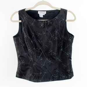 SilkDue per Due Embroidered Shell Blouse - 8P